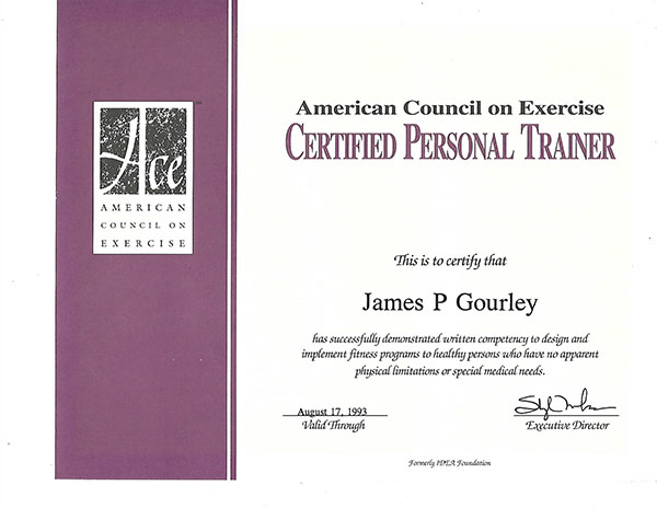 ACE Certified Personal Trainer Santa Barbara