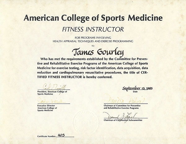 ACSM Fitness Instructor Santa Barbara