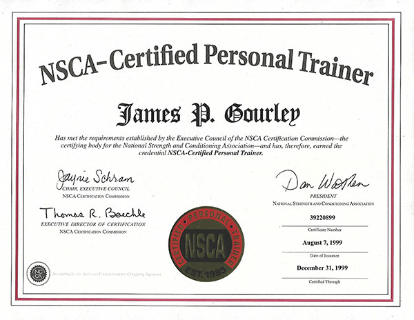 NSCA Certified Personal Trainer Santa Barbara